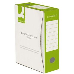 Pudło archiwizacyjne Q-CONNECT, karton, A4/100mm, zielone (5705831158405)