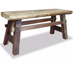 Vidaxl ławka, lite drewno z odzysku, 100 x 28 43 cm