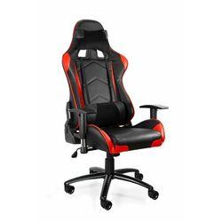Uniquemeble Fotel gamingowy, biurowy, dynamiq v5, czarny, czerwony