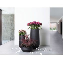 Doniczka czarna - ogrodowa - balkonowa - ozdobna - 22x22x55 cm - ANNECY - produkt z kategorii- Doniczki i podstawki