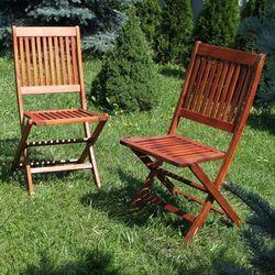 Krzesła ogrodowe akacja 2szt - meble toskania 46x56x91cm wyprodukowany przez Ogrody leandro