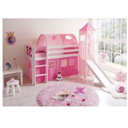 TICAA Łóżko ze zjeżdzalnią KASPER Classic drewno sosnowe kolor różowy (4250393808899)