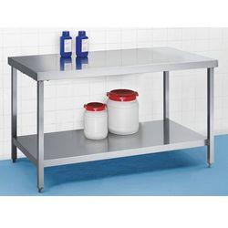 Stół roboczy ze stali szlachetnej, wys. robocza 850 mm, szer. x głęb. 1400x700 m marki Unbekannt