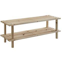 Zeller Drewniany stojak na buty, obuwie, 2 poziomy, (4003368131269)