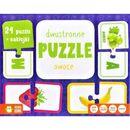 Rosnę i poznaję. Dwustronne puzzle. Owoce