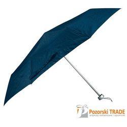 Manualna, składana parasolka z granatowego nylonu, kup u jednego z partnerów