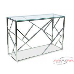 Toaletka metalowa chrom + szkło bs-05 marki Meblemwm