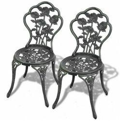 Zestaw metalowych krzeseł ogrodowych mesa - zielony marki Elior