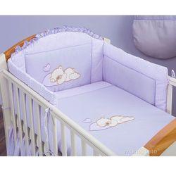 MAMO-TATO pościel 3-el Śpiący miś w fiolecie do łóżeczka 70x140cm