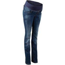 Dżinsy ciążowe z paskiem pod brzuch BOOTCUT bonprix niebieski