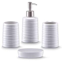 Zeller Ceramiczny zestaw akcesoriów łazienkowych white - 4 sztuki w komplecie, (4003368182667)