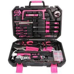 Sixtol Zestaw narzędzi Home Pink, 128 szt.