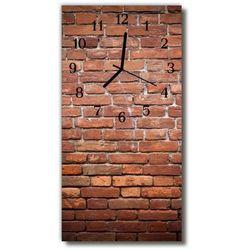 Tulup.pl Zegar szklany pionowy klasyczny mur cegła 3d czerwony