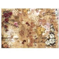 Papier klasyczny Arte do decoupage 50x70 NUTY I KWIATY