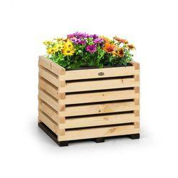Blumfeldt modu grow 50, grządka podwyższona, 50 x 45 x 50 cm, drewno sosnowe, barwa naturalna