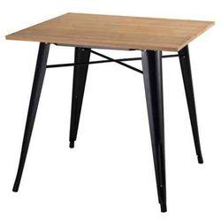 Stół TOWER WOOD czarny - blat jesion/metal, GT-236U.BL.JES (7812723)