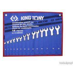 Zestaw kluczy płasko-oczkowych 14cz. 6 - 19mm 1214mrn05 marki King tony