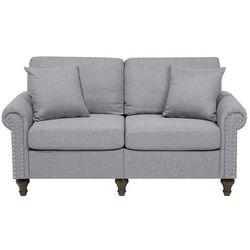 Sofa dwuosobowa tapicerowana jasnoszara OTRA, kolor szary