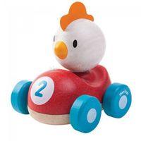 , kurczak, wyścigówka, drewniana od producenta Plan toys