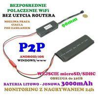 Mini-kamera (do ukrycia/zabudowy) wifi/p2p (zasięg cały świat!) + zapis w petli... marki Spy