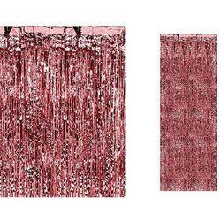 Kurtyna - zasłona na drzwi metaliczna czerwona - 2,4 m x 91 cm
