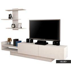 SELSEY Szafka RTV Poletta biała z półką (5903025271026)