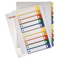 Przekladki numeryczne Esselte Maxi A4/1-10, do nadruku100213