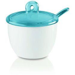 Guzzini - gocce - cukiernica z łyżeczką, niebieski - niebieski