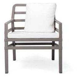 Fotel ogrodowy na taras z kompl. poduszek Aria Nardi kawowo-biały