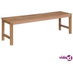 vidaXL Ławka ogrodowa, 150 cm, lite drewno tekowe (8718475713999)