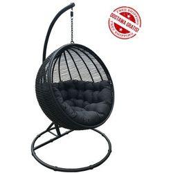 Miloo Huśtawka cocoon de luxe - czarny/poduszka czarna