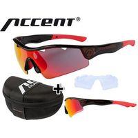 610-40-631_ACC Okulary Accent STINGRAY czarne, soczewki: szare z czarno-czerwonym lustrem, przezroczyste