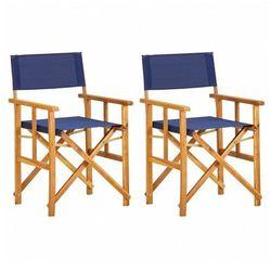 Komplet krzeseł reżysera Martin - niebieskie