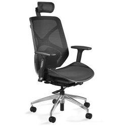 Fotel biurowy ergonomiczny siatkowy hero czarny marki Uq