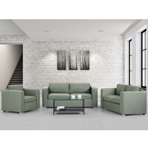 Zestaw wypoczynkowy oliwkowy - Sofa - trzyosobowa - dwuosobowa - fotel - HELSINKI, marki Beliani do zakupu w Beliani