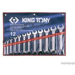 King tony Zestaw kluczy płaskich 12cz. calowe 1/4 - 1.1/4'' 1112sr (4710591932982)