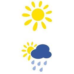 Szablon malarski z tworzywa, wielorazowy, wzór dla dzieci 64 - Pogodynka