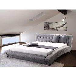 Łóżko wodne 160x200 cm - dodatki - szare - LILLE