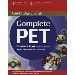 Complete PET Student's Book (podręcznik) without Answers with CD-ROM (Emma Heyderman, Peter May)