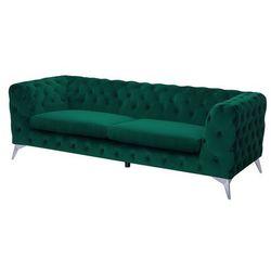 3-osobowa sofa welur zielona SOTRA (4260624116457)