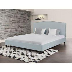 Łóżko błękitne - 180x200 cm - łóżko tapicerowane - MONTPELLIER - sprawdź w Beliani