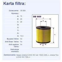 Filtr oleju oe 669 wyprodukowany przez Filtron