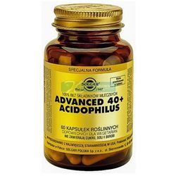 SOLGAR Advanced 40+ Acidophilus 60 Kapsułek - produkt farmaceutyczny