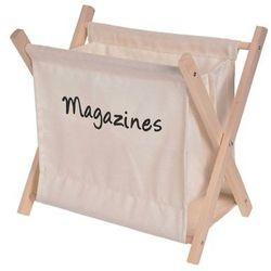 Bawełniany, składany gazetnik-beżowy