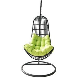 wiszący fotel oregon, czarny/zielony marki Rojaplast