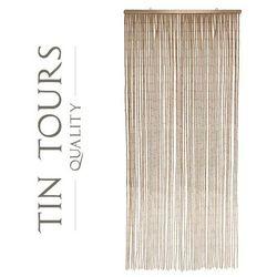 Tin tours sp.z o.o. Zasłona bambus kremowa 90x200cm