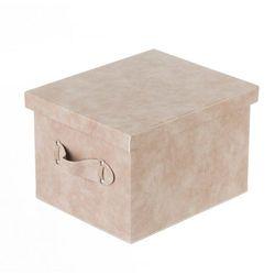 pudełko lambert skórzane brown 31,5x26x20,5cm, 31,5x26x20,5cm marki Dekoria