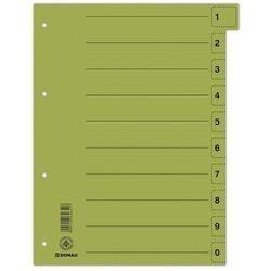 Przekładki DONAU oddz. perf. A4 op.50 - zielone