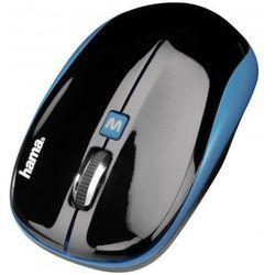 Mysz bezprzewodowa HAMA AM-7600 Czarno-niebieski - sprawdź w wybranym sklepie