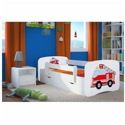 Łóżko dla chłopca z materacem happy 2x mix 70x140 - białe marki Producent: elior